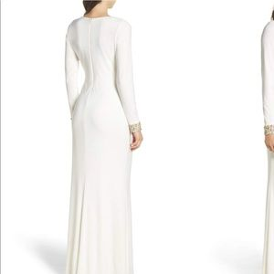 446ab281cb2 Dresses | Vince Camuto Embellished Side Tuck Jersey Gown | Poshmark
